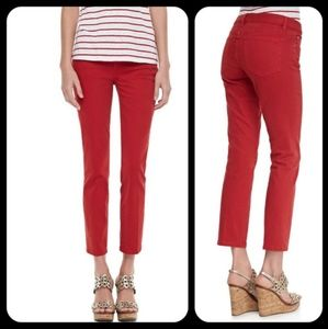 Tory Burch Cropped Skinny Jeans, 28